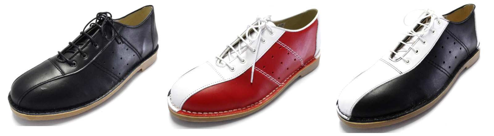 Ikon Pelle MARRIOT MOD 60s Stile Bowling Sautope In 3 Coloreei Taglie 6S a 12S