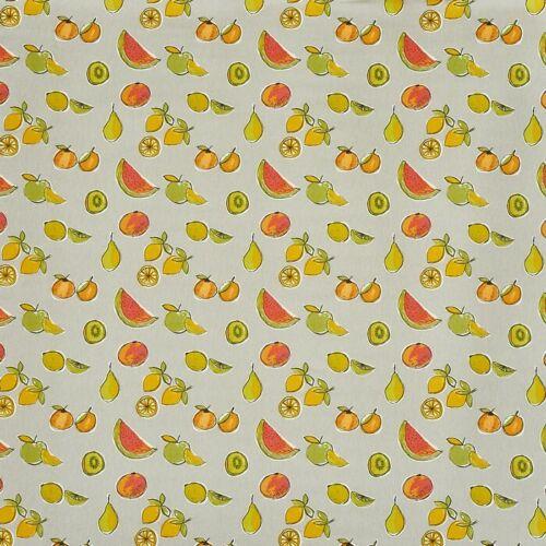 Prestigious Fruit Salad Butterscotch Cotton PVC WIPE CLEAN Tablecloth Oilcloth