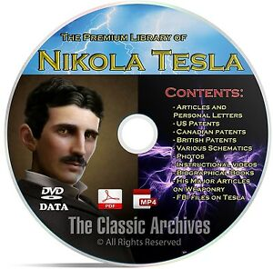 Nikola Tesla 325 Book Library Patents Articles Alternative