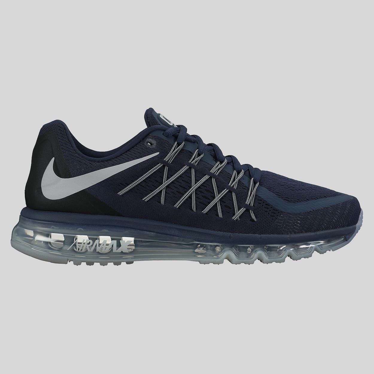 NIB Auth Nike Air Max 2015 Running Shoe 698902-405 Navy Blue Gray MENS Sz 8.5