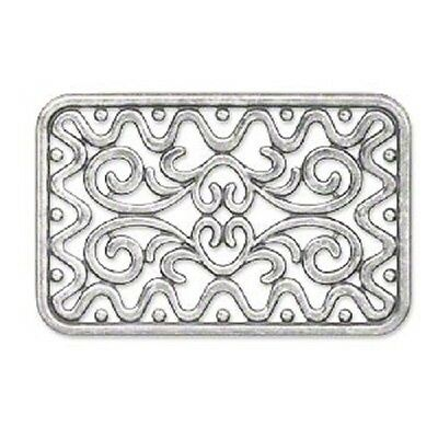 8481FX Charm Filigree, Link, Component, Centerpiece, 49x32mm, rectangle, 1 Qty