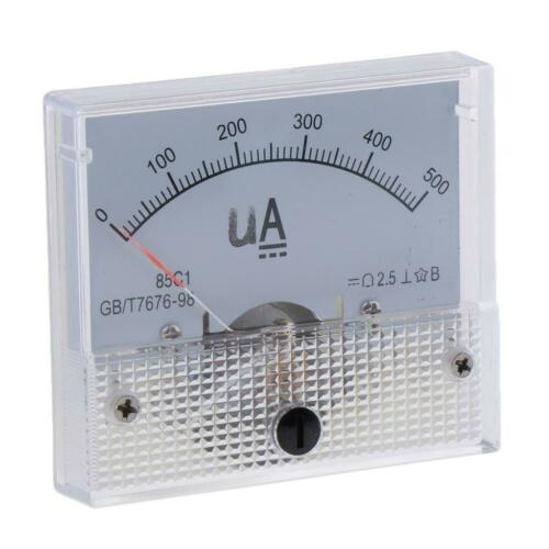 85C1-uA Micro Amp Meter Ammeter Tester DC Analog Current Panel High Accurate
