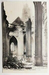 757-Ancienne-Carte-Postale-la-Grande-Guerre-Dunkerque-Saint-Eloi-Church
