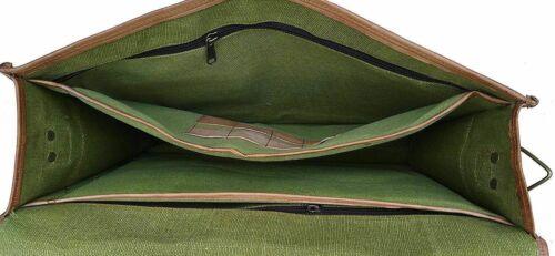 Men/'s Leather Bag Large Compartment Messenger Laptop Shoulder Briefcase Handbag