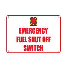 Horizontal Metal Sign Multiple Sizes Emergency Fuel Shut Off Switch Hazard A
