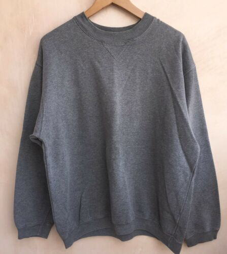 NEW MENS GREY BHS LONG SLEEVE TOP SIZE M
