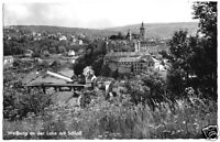 AK, Weilburg a.d. Lahn, Teilansicht mit Brücke und Schloß, um 1960
