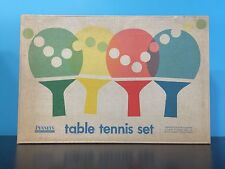 Penney's Vintage Table Tennis Set Racket Paddles Balls Net Rules Boxed Ping Pong