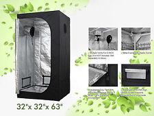 "32x32x63"" Hydro 600D Mylar Hydroponic Grow Tents Reflective Growing Room LTQ"
