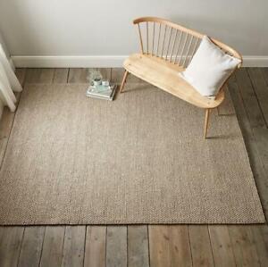The White Company Hampton Looped Wool Medium Rug 170 x 240 cm Biscuit Home