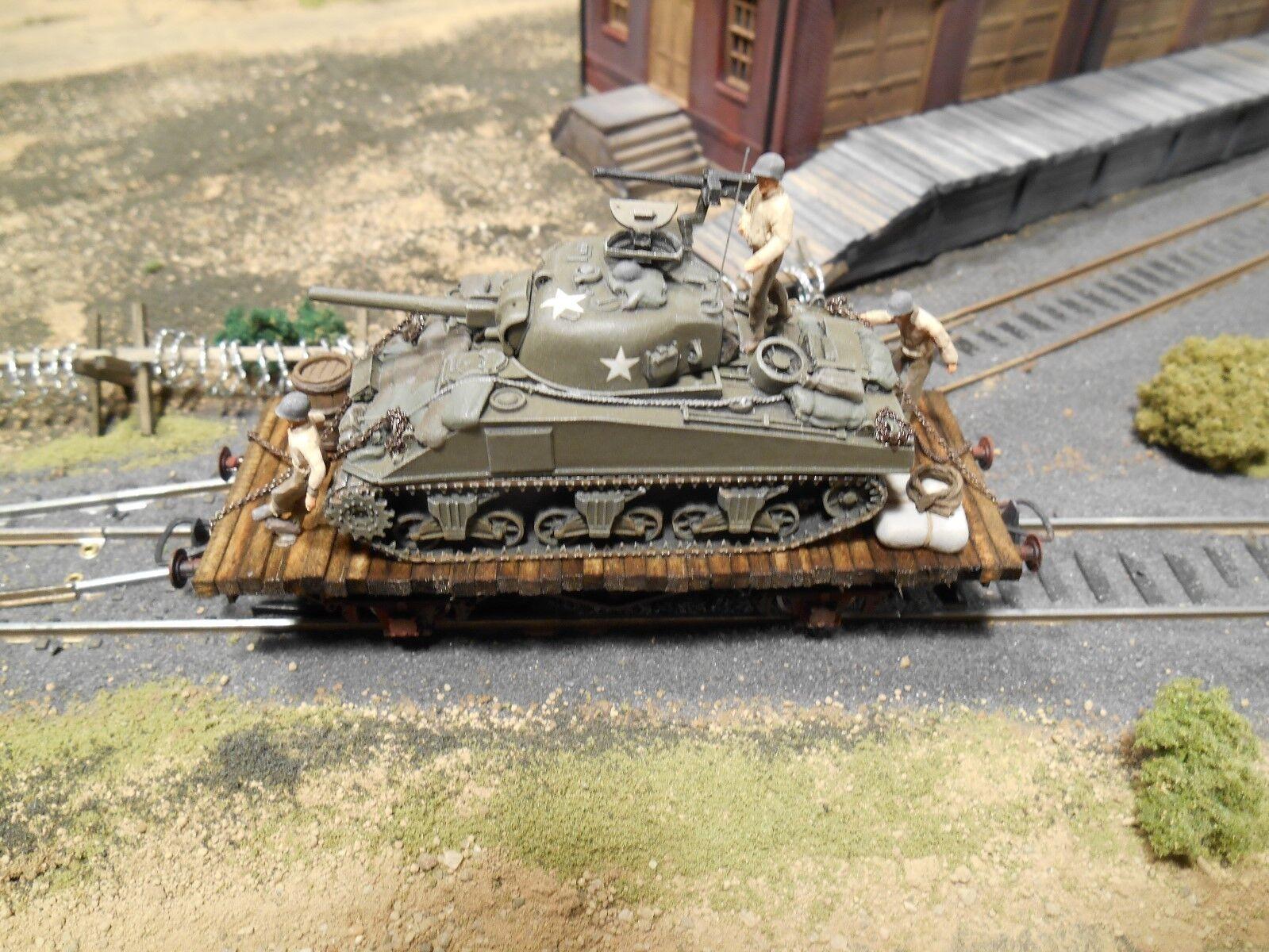 Ho Roco Minitanks American Ejército de Patton 3rd Ferrocarril Coche  A699 Custom detallada