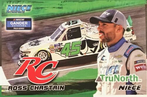 "2019 ROSS CHASTAIN /""TRU NORTH WHITE TRUCK KENTUCKY/"" #45 NASCAR TRUCK POSTCARD"
