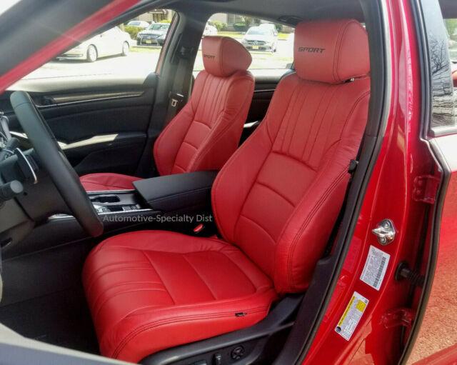 2014 Honda Accord Sport For Sale >> Katzkin Red Leather Interior Seat CVRS Fit 2018 2019 Honda Accord Sport EX Sedan for sale online ...