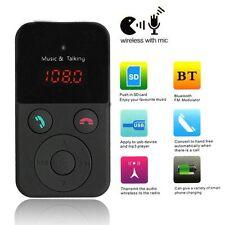 Negro Bluetooth Manos Libre Transmisor FM SD/TF Reproductor MP3 USB Para coche