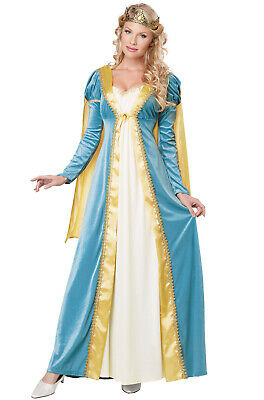 Lady Faire Wig Medieval Fantasy Queen Fancy Dress Up Halloween Costume Accessory