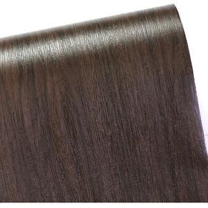 Dark Brown Wood Contact Paper Wallpaper Grain Pattern Self Adhesive