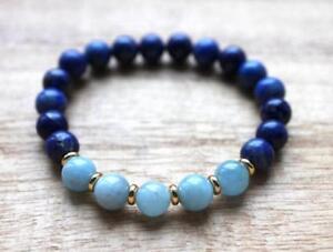 8mm-lazuli-Amazonite-bracelet-Stretchy-Stretchy-Bless-Monk-energy-yoga-Chakas