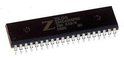 2 X Zilog Z84c4006peg Z80 Sio Serial Input/output Ic, Z80 Cpu 6 Mhz 40-pin Pdip- Altamente Lucido