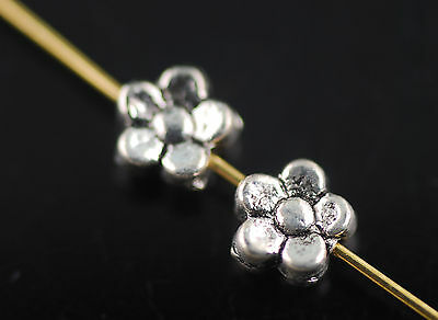 Wholesale Lots 100p 5mm Craft Jewelry Making Flower Spacer Bead Charms Findings