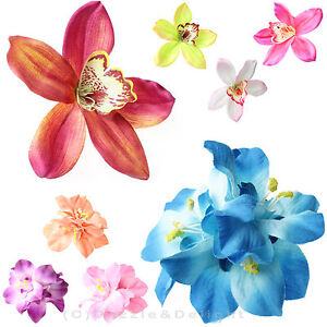 Image Is Loading Hair Flower Clip Wedding Flowers Orchid Lily