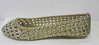 Venta señoras de punto en tejido Casual Slip On Plana dolly/ballerina Zapatos f8760