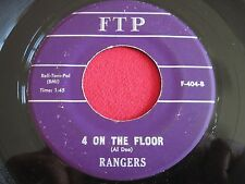 HOT ROD 45 - RANGERS - 4 ON THE FLOOR / GHOST RIDERS IN THE SKY - FTP 404
