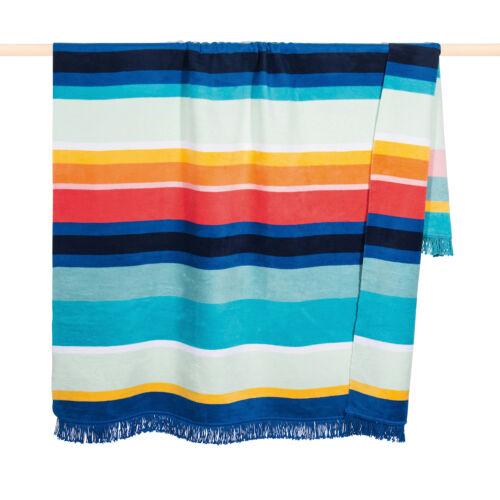 PAD  WohndeckeKuscheldecke PURE Aqua 150 x 200 cm gestreift Baumwollmischung