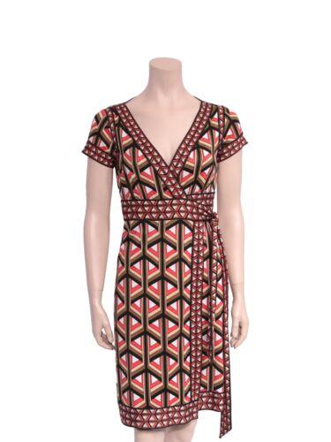 DVF Printed Wrap Dress (SIZE 4)