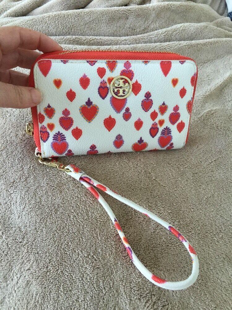 5a. NWOT Tory Burch Kerrington Wristlet Wallet Smartphone Hearts Valentine