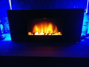 Classic-Flame-Wall-Mount-Electric-Fireplace-w-Remote