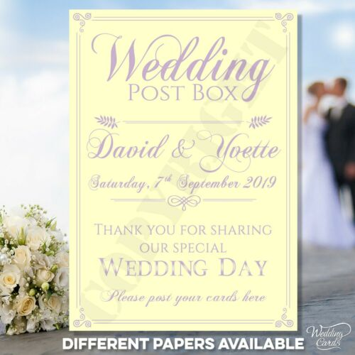 Personalised Wedding Post Box Party Decoration Postbox Thank you Gifts Card Sign