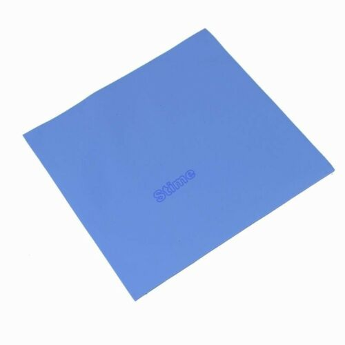 5pcs 100x100x 3mm blue GPU CPU Heatsink Thermal Conductive Paste Silicone Pad