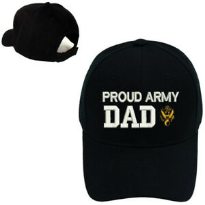 PROUD US ARMY DAD CAP HAT    PROUD ARMY DAD    BLACK BASEBALL CAP ... 34d7570eb9d
