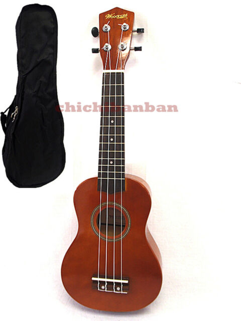 """<Promotion> Woodnote/Brown with Red 21"""" Wooden Soprano Ukulele+Free Carrying Bag"""