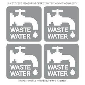 4-x-Waste-Water-Stickers-Caravan-Motorhome-Campsite-Sink-60mm-x-60mm-SKU6306