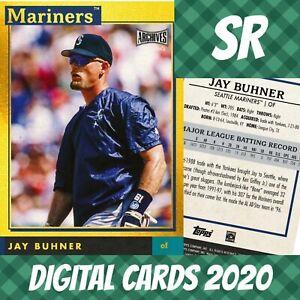 Topps Bunt 20 Jay Buhner Archives Snapshots Gold Base 2020 Digital