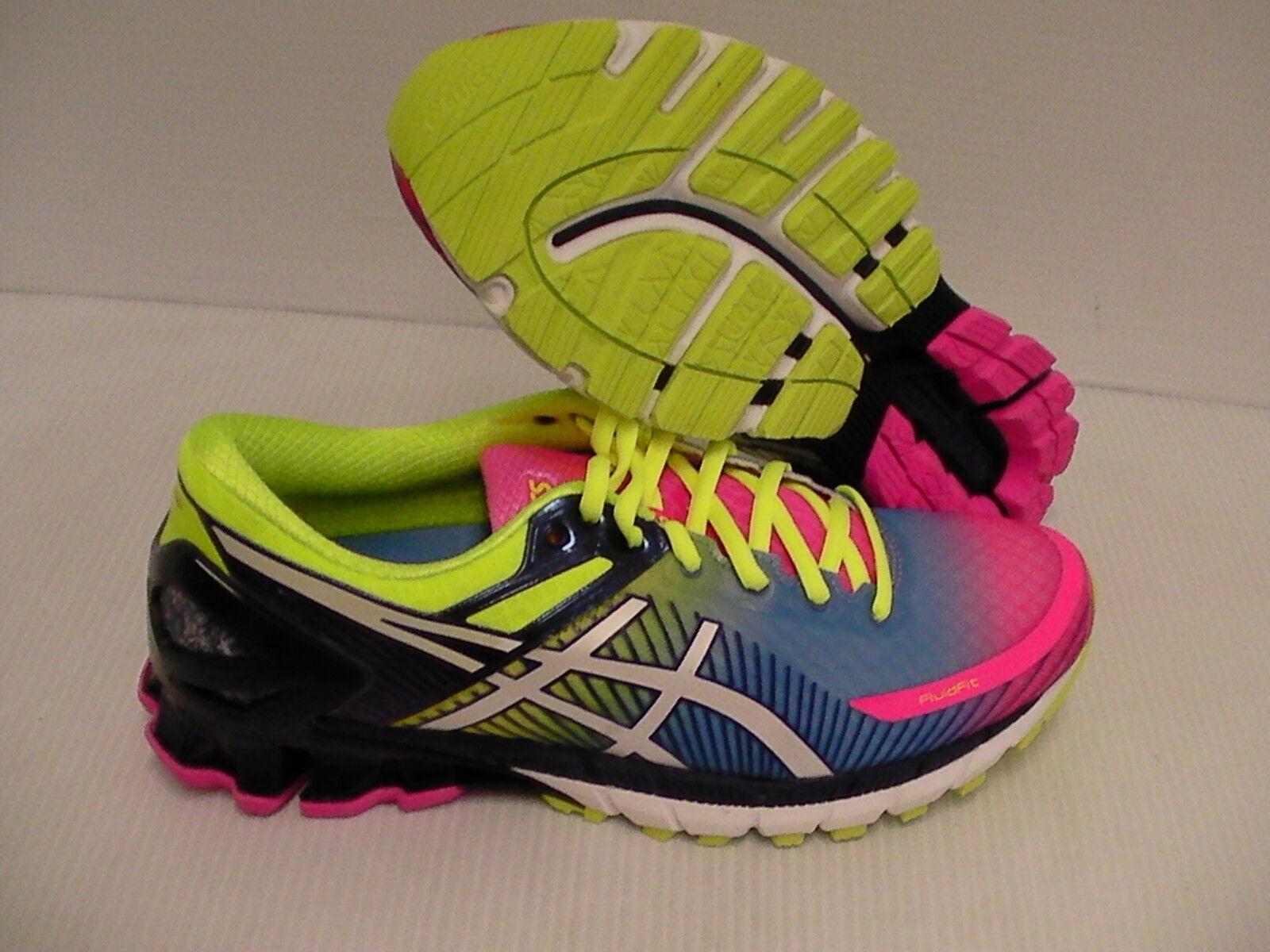 Asics femmes  running  chaussures  gel kinsei 6 hot rose  Blanc  flash yellow Taille 12