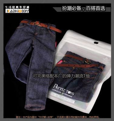 """1//6 Scale Men/'s Blue Paint jeans Pants Fit For 12/"""" Male Figure M33 Body Model"""