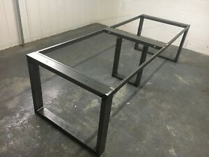 Details About Large Steel Table Frame Rectangle Metal Legs Erw Box Section