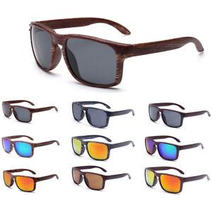 da682e88cf18 Image is loading Fashion-Faux-Wood-Sunglasses-UV400-Retro-Eye-Glasses-