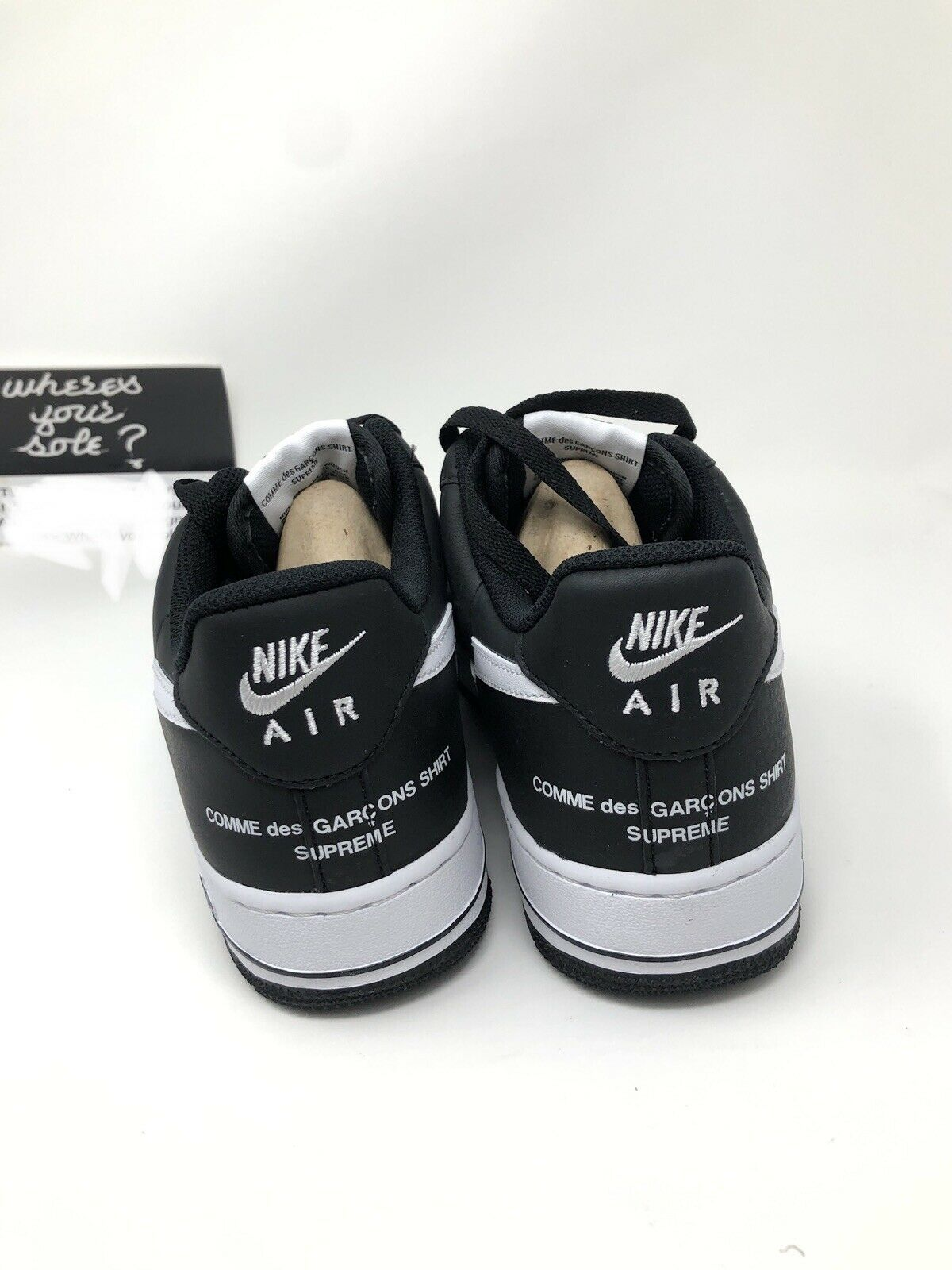 865715f5e978bb ... Nike Supreme Supreme Supreme CDG Comme Des Garcons Air Force 1 Low  Black size 8.5 New ...