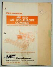 Massey Ferguson Mf 850 855 Combine Parts Catalog Book Prior To Sn 027544 Oem