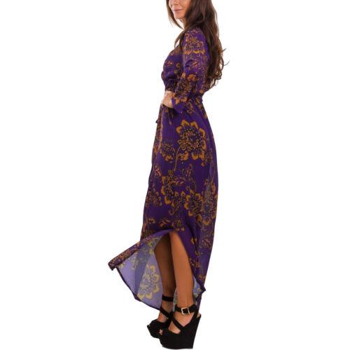 1848 Sexy Maxi Nu Femme Elégante Fleur Robe Robe Gi Dos Voile Longue qwEzpPW1
