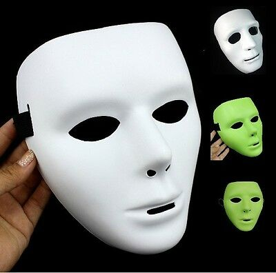 Hot Sale New White/Black/Fluorescent Color Party Mysterious Halloween Funny Mask