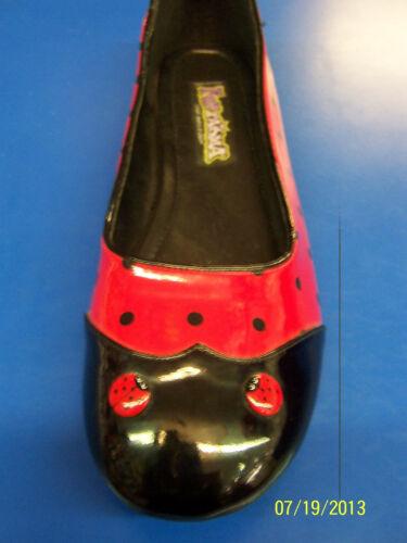 LADYBUG Shoes Animal Red Black Flats Dress Up Halloween Adult Costume Accessory
