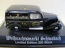 Schuco Classic Sondermodell Mercedes-Benz 170V Weihnachtsmarkt Schwabach 1999