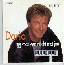 (AO801) Dario, Voor Een Nacht Met Jou - 1999 CD