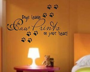 Dogs-leave-paw-prints-saying-vinyl-decal-wall-sticker-home-decor-quote-lettering