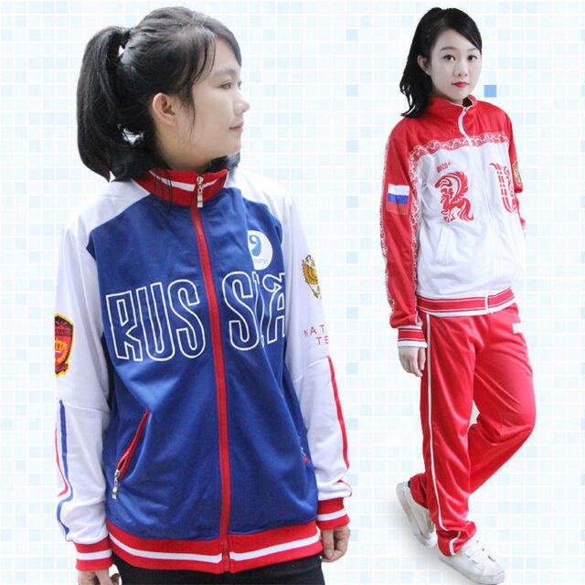 New On ice Yuri  Cosplay Costume Jacket Coat Daily Sportswear Coat pants
