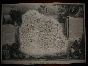 CARTE-GEOGRAPHIQUE-PUBLIE-PAR-COMBETTE-1845-DEPARTEMENT-DU-PUY-DE-DOME